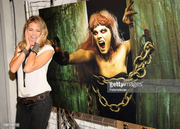 Actress Amaia Salamancaattends the presentation of 'The Walking Dead' Season 2 on October 13, 2011 in Madrid, Spain.