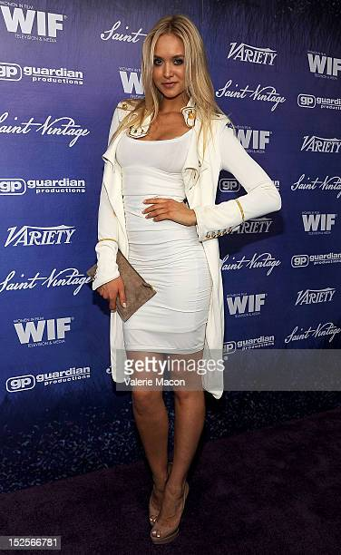 Actress Amalie Wichmann arrives at the Variety And Women In Film PreEmmy Event at Scarpetta on September 21 2012 in Beverly Hills California