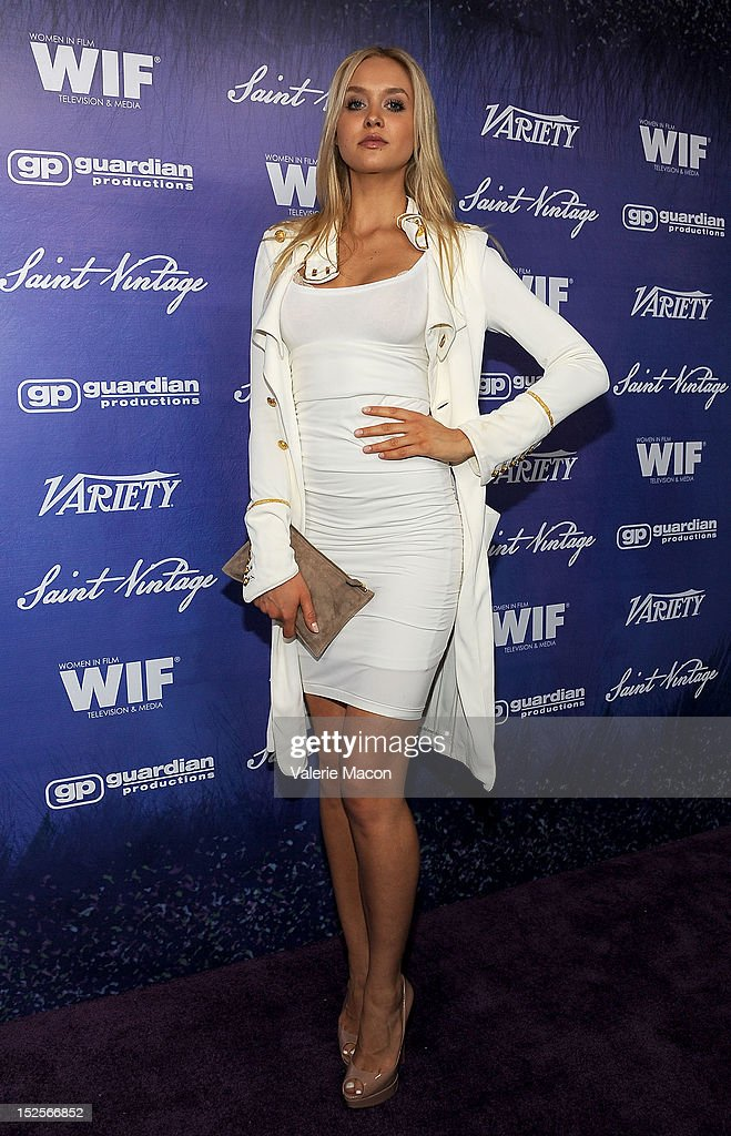 Actress Amalie Wichmann arrives at the Variety And Women In Film Pre-Emmy Event at Scarpetta on September 21, 2012 in Beverly Hills, California.