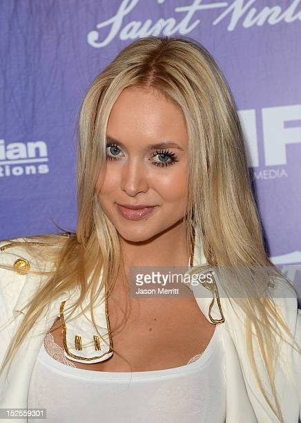 Actress Amalie Wichmann arrives at Variety and Women in Film PreEMMY Event presented by Saint Vintage at Scarpetta Beverly Hills on September 21 2012...