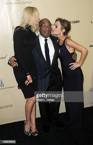 Actress Amalie Wichmann TV personality Al Roker and TV personality Giada De Laurentiis arrive for the Weinstein Company's 2013 Golden Globe Awards...