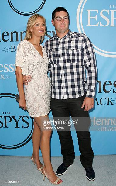 Actress Amanda AArdsma and athlete Ryan RowlandSmith arrive at the Fat Tuesday PreESPYs Party at Boulevard3 on July 13 2010 in Hollywood California