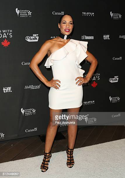 Actress Amanda Brugel attends the 3rd annual 'An Evening With Canada's Stars' at Four Seasons Hotel Los Angeles at Beverly Hills on February 25 2016...