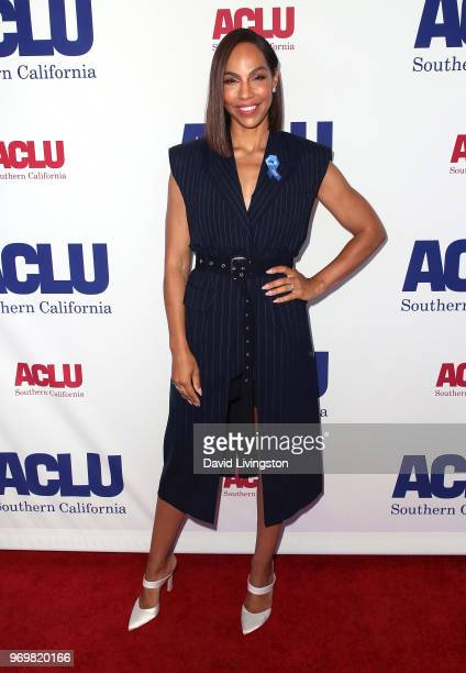 Actress Amanda Brugel attends the ACLU SoCal Annual Luncheon at JW Marriott Los Angeles at LA LIVE on June 8 2018 in Los Angeles California