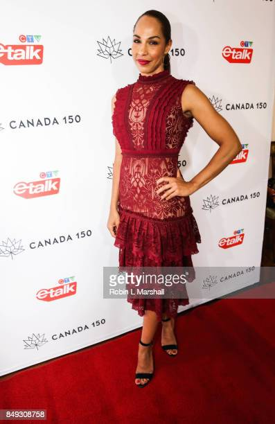 Actress Amanda Brugel attends the Canadian Consulate's Celebration for the Canadian Nominees of the 69th Emmy Awards at Official Residence Of Canada...
