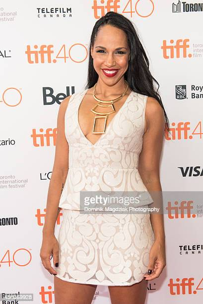 Actress Amanda Brugel attends the 'Room' premiere during the 2015 Toronto International Film Festival at the Princess of Wales Theatre on September...