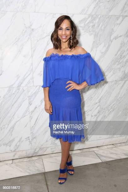 Actress Amanda Brugel Hulu's The Handmaid's Tale Women in Film panel at the West Hollywood Library on April 23 2018 in West Hollywood California