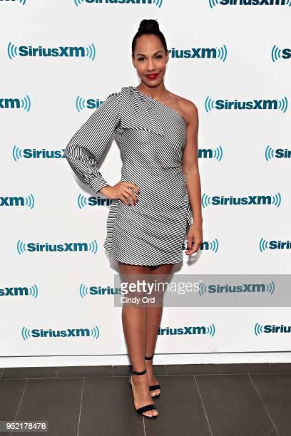 Actress Amanda Brugel visits the SiriusXM Studios on April 27 2018 in New York City