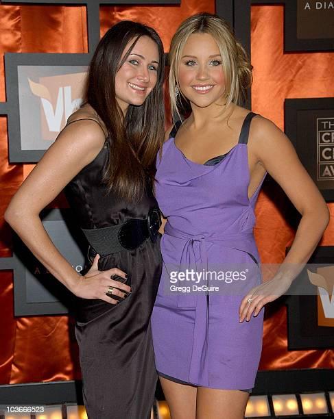 Actress Amanda Bynes and sister Jillian arrive at the 13th ANNUAL CRITICS' CHOICE AWARDS at the Santa Monica Civic Auditorium on January 7, 2008 in...