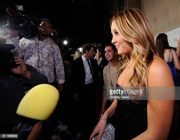 Actress Amanda Bynes arrives at Maxim's 2008 Hot 100 Party held at Paramount Studios on May 21 2008 in Los Angeles California