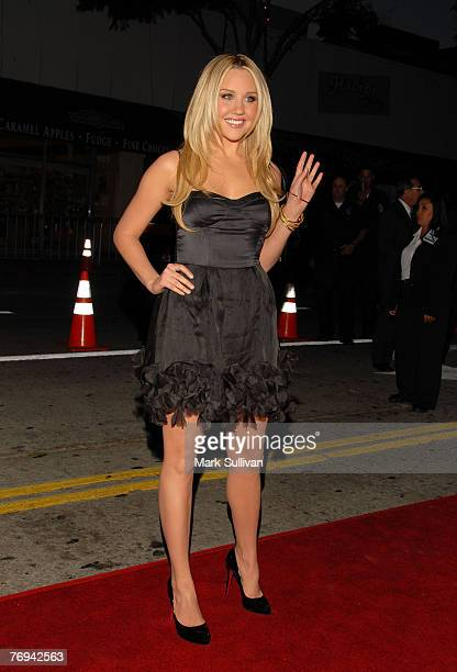 Actress Amanda Bynes arrives at the Sydney White Premiere held in Westwood California on September 20 2007