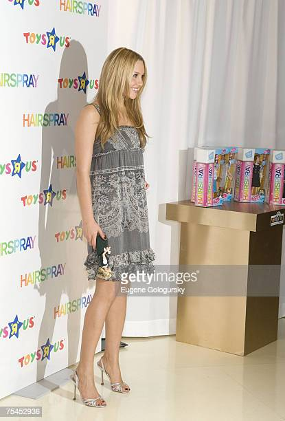 Actress Amanda Bynes Hairspray Cast Member Launch Fashion Doll Line At Toys R Us in New York City New York