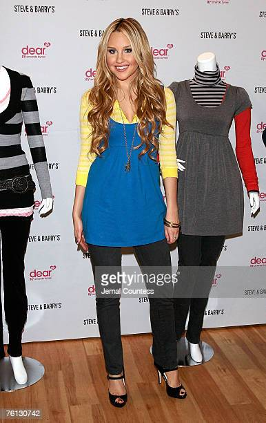 Actress Amanda Bynes launches her clothing line 'dear BY amanda bynes' with retailer Steve Barry's on on August 16 2007 in New york City