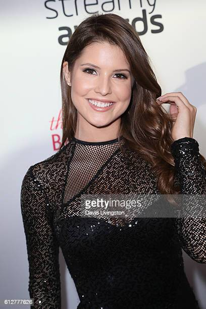 Actress Amanda Cerny arrives at the 2016 Streamy Awards at The Beverly Hilton Hotel on October 4 2016 in Beverly Hills California
