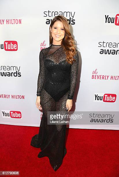 Actress Amanda Cerny arrives at the Steamy Awards at The Beverly Hilton Hotel on October 4 2016 in Beverly Hills California