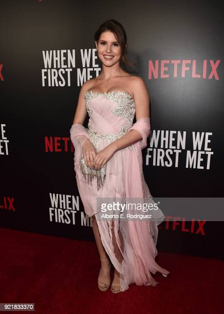 Actress Amanda Cerny attends a special screening of Netflix's When We First Met at ArcLight Hollywood on February 20 2018 in Hollywood California