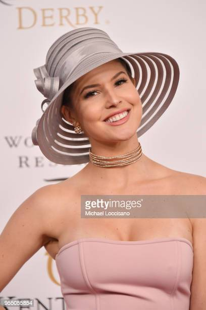Actress Amanda Cerny attends Kentucky Derby 144 on May 5 2018 in Louisville Kentucky