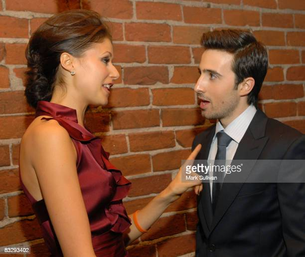 Actress Amanda Crew and actor Josh Zuckerman attend the after party for the Los Angeles premiere of 'Sex Drive' on October 15 2008 in Westwood...