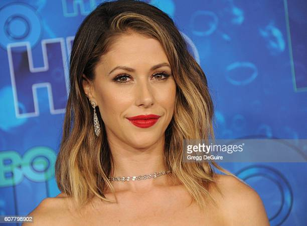 Actress Amanda Crew arrives at HBO's Post Emmy Awards Reception at The Plaza at the Pacific Design Center on September 18 2016 in Los Angeles...
