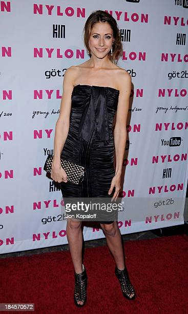 Actress Amanda Crew arrives at NYLON Magazine's May Issue Young Hollywood Launch Party at The Roosevelt Hotel on May 12 2010 in Hollywood California