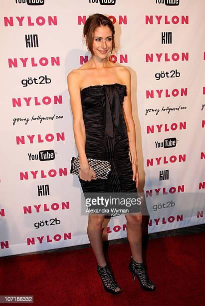 Actress Amanda Crew arrives at NYLON'S May Young Hollywood Event at Roosevelt Hotel on May 12 2010 in Hollywood California