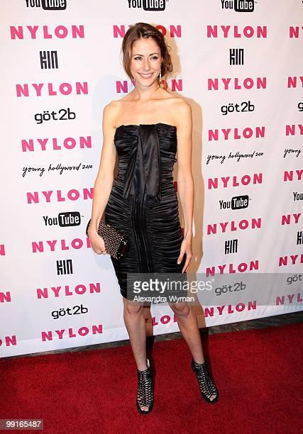 Actress Amanda Crew arrives at NYLON'S May Young Hollywood Event at Roosevelt Hotel on May 12, 2010 in Hollywood, California.