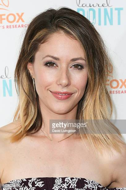 Actress Amanda Crew arrives at Raising The Bar To End Parkinson's at Laurel Point on July 27 2016 in Studio City California