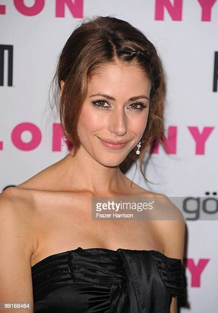 Actress Amanda Crew arrives at the NYLON YouTube Young Hollywood Party at the Roosevelt Hotel on May 12 2010 in Hollywood California