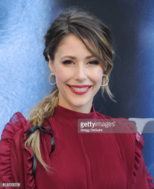 Actress Amanda Crew arrives at the premiere of HBO's Game Of Thrones Season 7 at Walt Disney Concert Hall on July 12 2017 in Los Angeles California