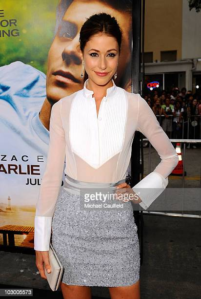 Actress Amanda Crew arrives at the premiere of Universal Pictures' Charlie St Cloud held at the Regency Village Theatre on July 20 2010 in Westwood...