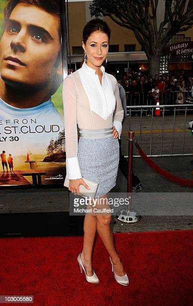 """Actress Amanda Crew arrives at the premiere of Universal Pictures' """"Charlie St. Cloud"""" held at the Regency Village Theatre on July 20, 2010 in..."""