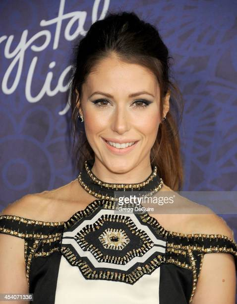 Actress Amanda Crew arrives at the Variety And Women In Film Annual Pre-Emmy Celebration at Gracias Madre on August 23, 2014 in West Hollywood,...
