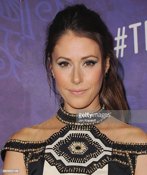 Actress Amanda Crew arrives at Variety And Women In Film Annual PreEmmy Celebration at Gracias Madre on August 23 2014 in West Hollywood California