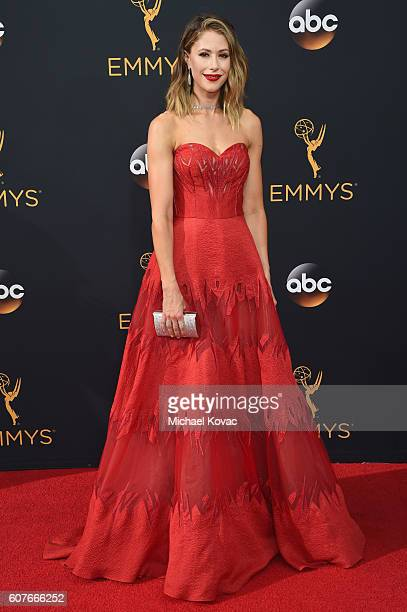 Actress Amanda Crew attends 68th Annual Primetime Emmy Awards at Microsoft Theater on September 18 2016 in Los Angeles California