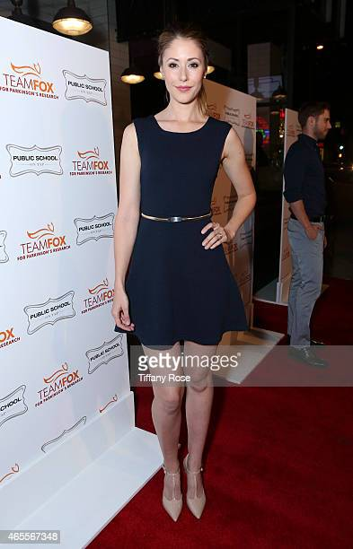 Actress Amanda Crew attends Raising The Bar To End Parkinson's at Public School 818 on March 7, 2015 in Sherman Oaks, California.