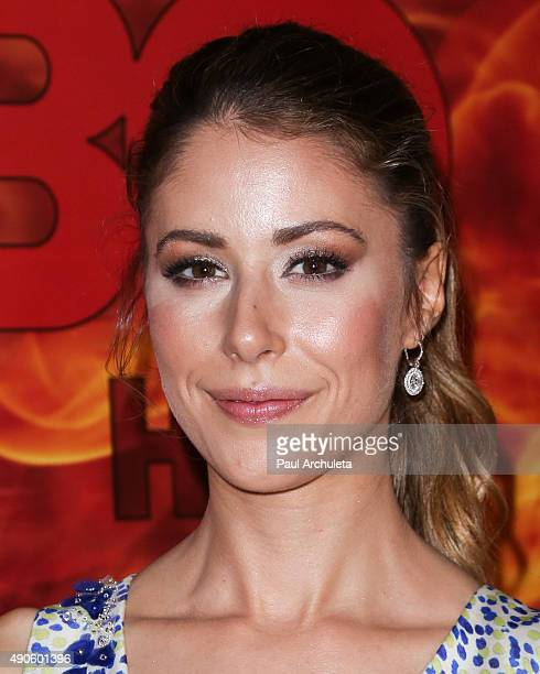 Actress Amanda Crew attends the HBO's Official 2015 Emmy After Party at The Plaza at the Pacific Design Center on September 20 2015 in Los Angeles...