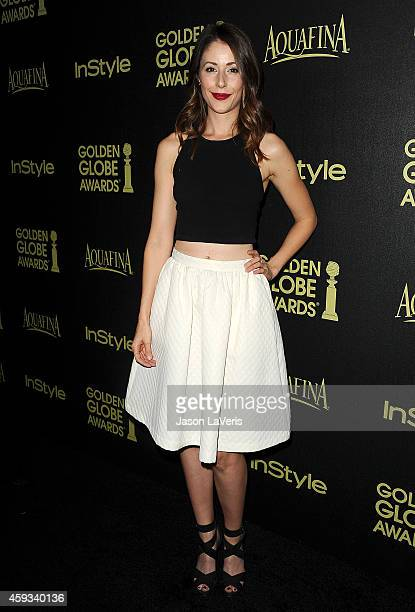 Actress Amanda Crew attends the Hollywood Foreign Press Association and InStyle's celebration of the 2015 Golden Globe award season at Fig Olive...