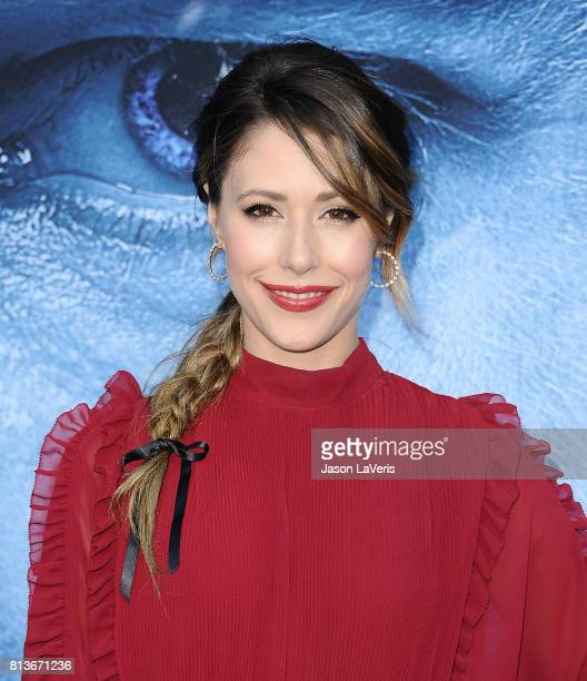 """Actress Amanda Crew attends the season 7 premiere of """"Game Of Thrones"""" at Walt Disney Concert Hall on July 12, 2017 in Los Angeles, California."""