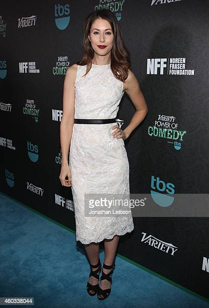 Actress Amanda Crew attends Variety's 5th annual Power of Comedy presented by TBS benefiting the Noreen Fraser Foundation at The Belasco Theater on...