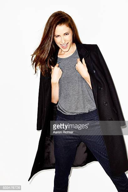 Actress Amanda Crew is photographed for Aritzia #FallForUs in 2014 in Los Angeles, California. PUBLISHED IMAGE.