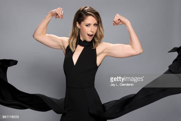 Actress Amanda Crew of 'Silicon Valley' is photographed for Los Angeles Times on March 17 2018 at the PaleyFest at the Dolby Theatre in Hollywood...