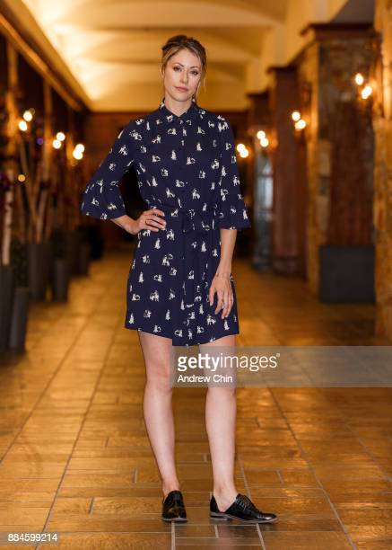 Actress Amanda Crew poses for a portrait during the 17th Annual Whistler Film Festival at the Fairmont Chateau Whistler on December 2 2017 in...