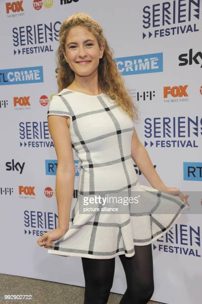 Actress Amanda da Gloria arrives at the opening of the third TV series festival 'Seriencamp' at the Hochschule fuer Fernsehen und Film in Munich...