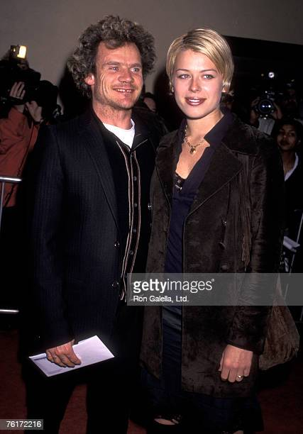 Actress Amanda De Cadenet and Musician Flea of the Red Hot Chili Peppers attend the 'Albino Alligator' Westwood Premiere on January 14 1997 at Mann...