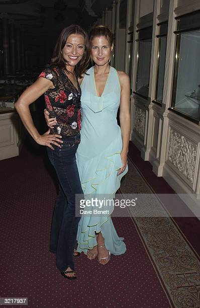 Actress Amanda Donahoe and Julienne Davis at the party that design house Christian Dior threw to mark the opening of their new boutique on 26th June...