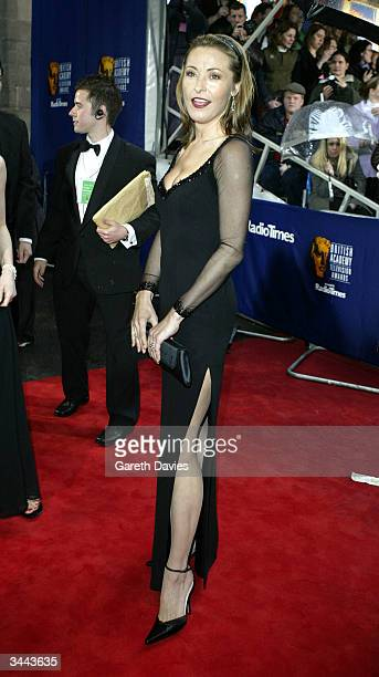 Actress Amanda Donahoe arrives for The British Academy Television Awards at the Grosvenor House Hotel April 18 2004 in London England