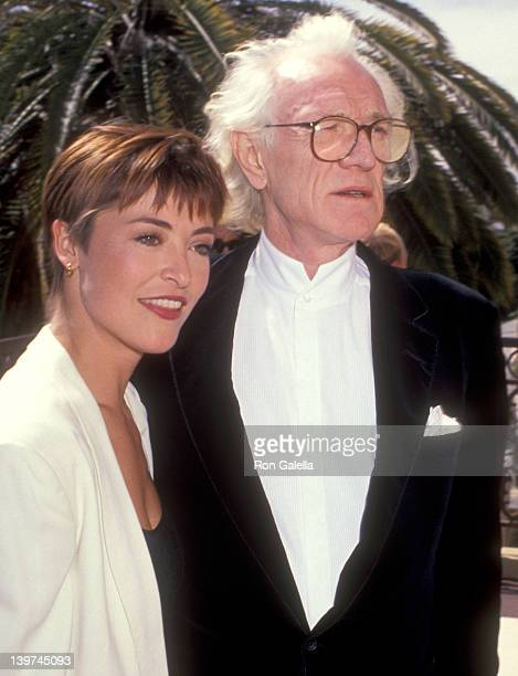 Actress Amanda Donohoe and Actor Richard Harris attend the Third Annual BAFTA/LA Britannia Awards on March 17 1991 at Bel Age Hotel in West Hollywood...