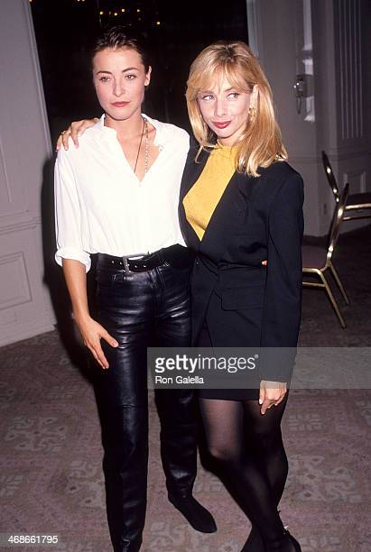 Actress Amanda Donohoe and actress Rosanna Arquette attend the Casting Society of America's Seventh Annual Artios Awards on October 17 1991 at the...