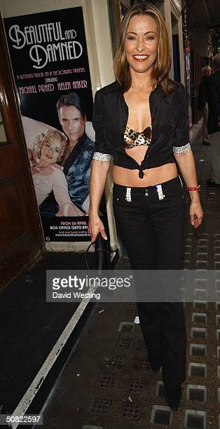 """Actress Amanda Donohoe attends press night for """"Beautiful And Damned,"""" a new musical based on the lives of American novelist F Scott Fitzgerald and..."""