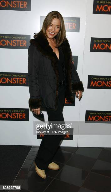 Actress Amanda Donohue arrives for the UK premiere of Monster at the Vue cinema in Leicester Square central London Monster tells the story of...